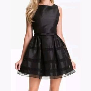 Taylor Dresses Tonel Stripe Fit & Flare Dress